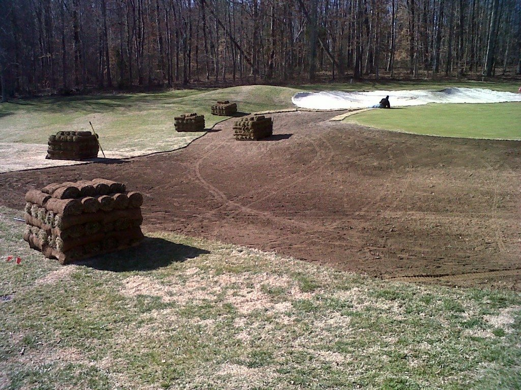 Keswick Hall - Golf Course Sod Placement (1) 03-04-11