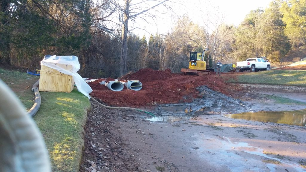 Charlottesville golf course pond repairs 2