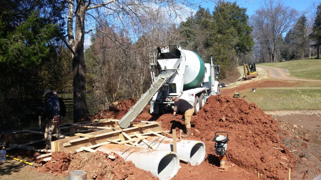 Charlottesville golf course pond repairs 3a
