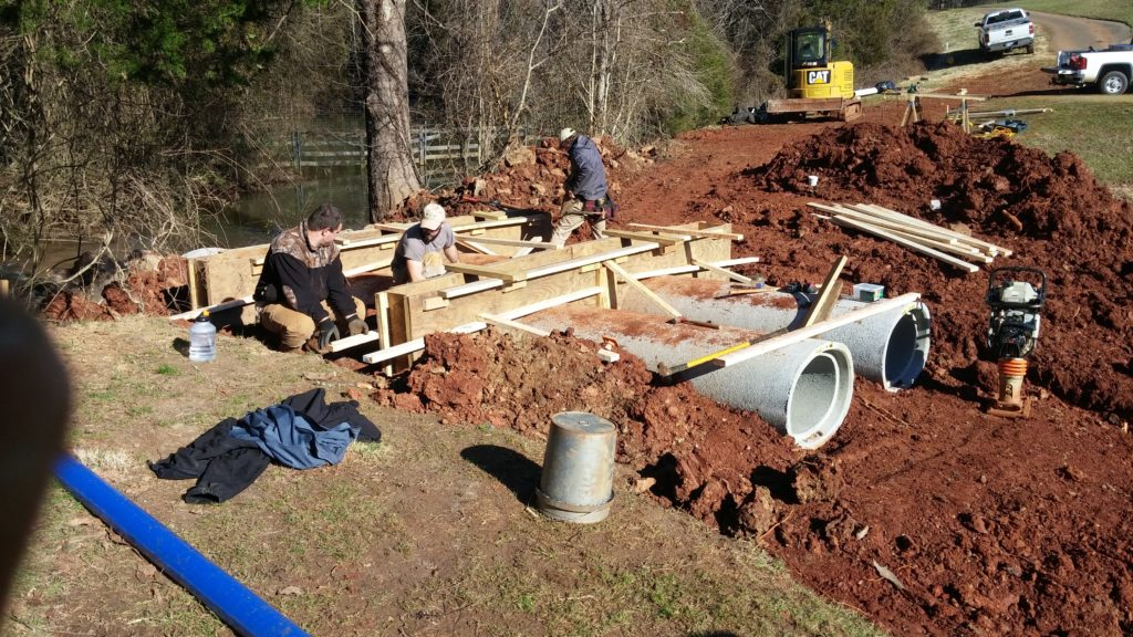 Charlottesville golf course pond repairs 4