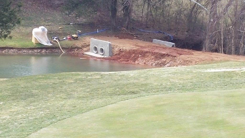 Charlottesville golf course pond repairs 5