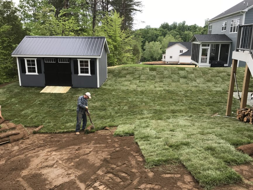 As Part Of Our Earthwork Services, We Are The Central Virginia Grading And  Sod Installation Specialists! This Project Had Several Stages Of Earthwork,  ...